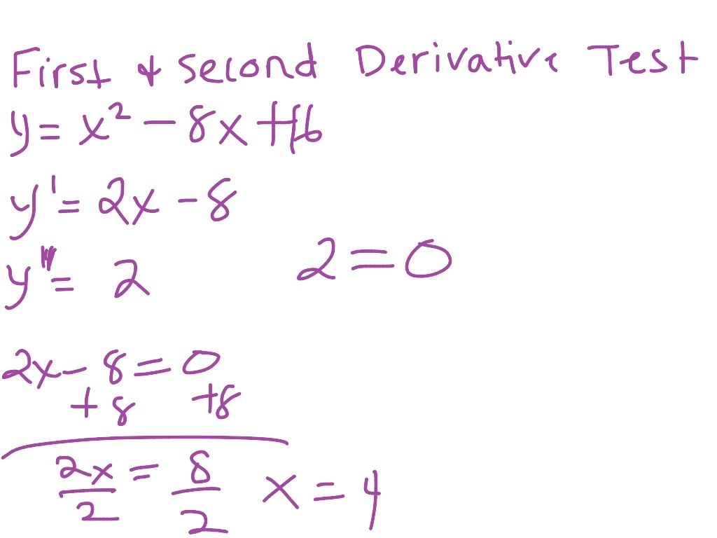 Is Shows How To Do First And Second Derivative Test Lymoore209