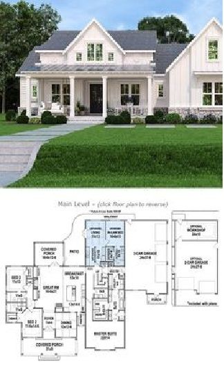 The Best Pinecone Trail Farmhouse Plan In 2020 House Plans Farmhouse French Country House Plans Country House Plans