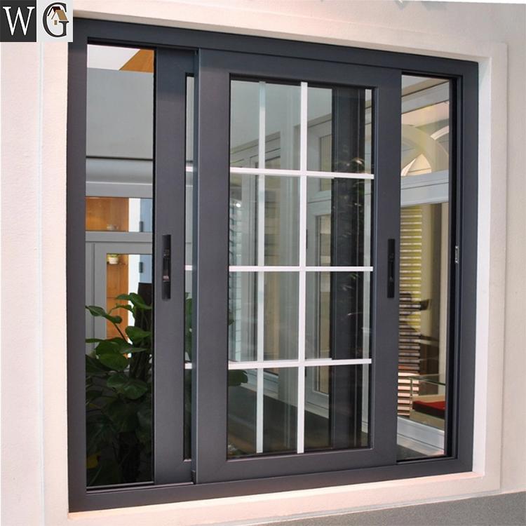 Theftproof Simple Iron Windows Grills House Aluminum Sliding Window In 2020 Window Grill Design Modern Sliding Window Design Window Glass Design