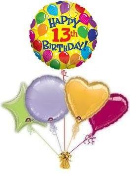 Happy 13th Birthday Cards Greetings Celebration