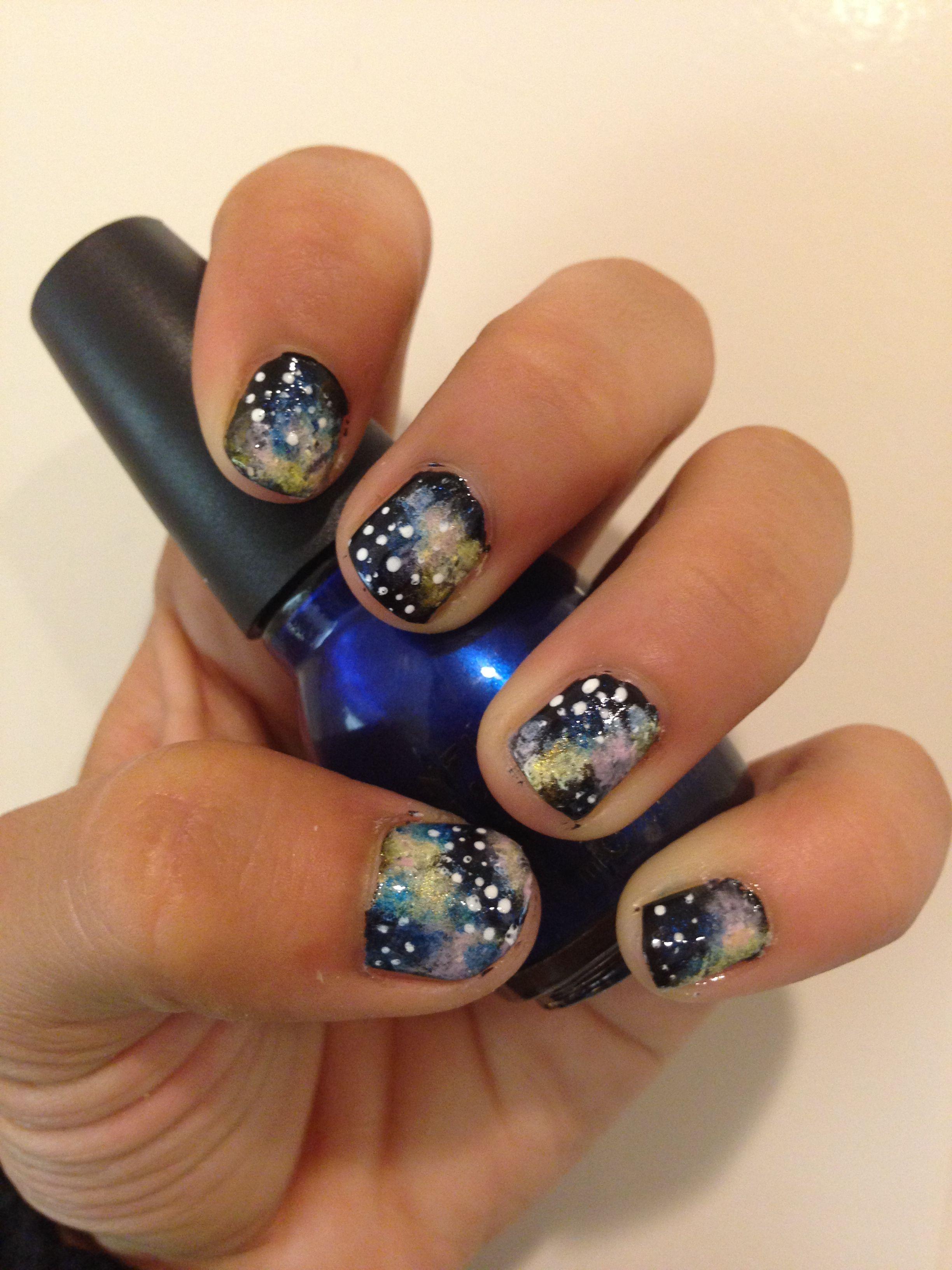 DIY galaxy nails :D