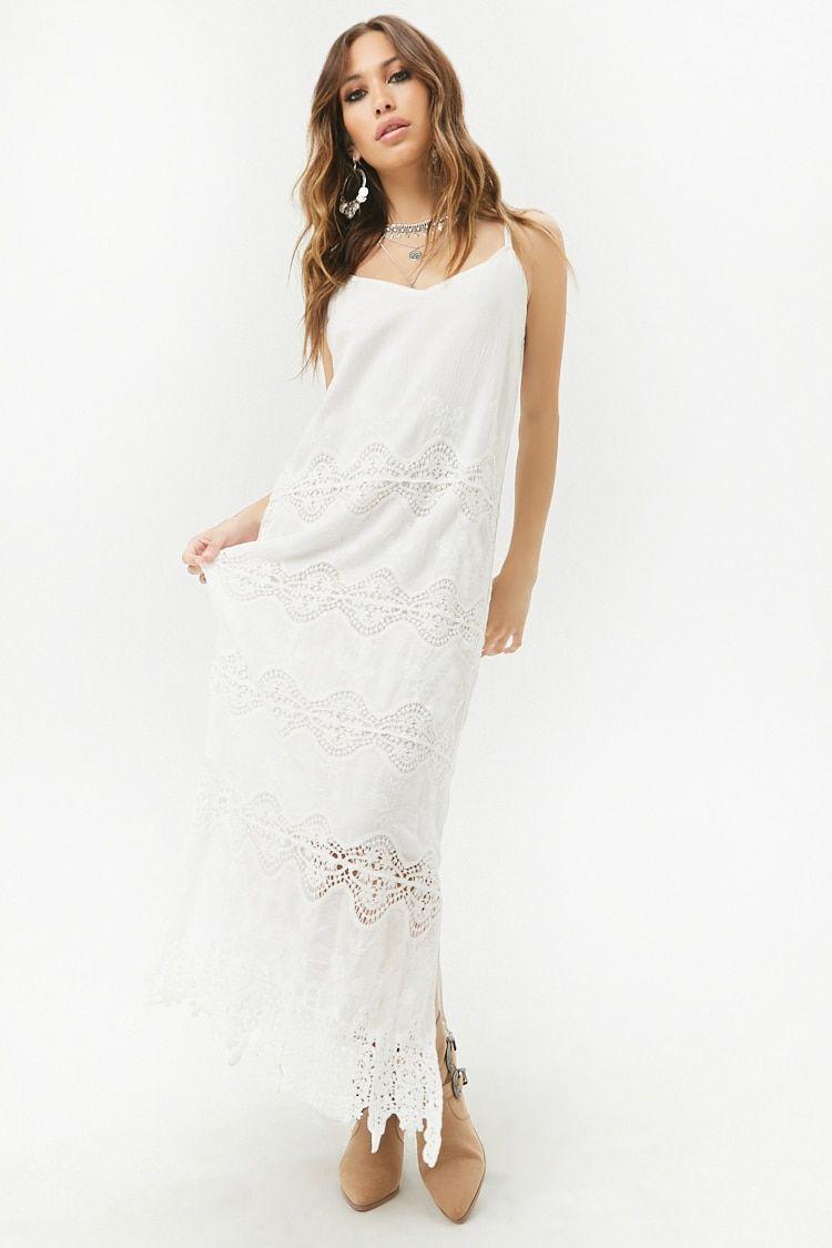 10d55b5c03068 Product Name Crochet-Trim Maxi Dress