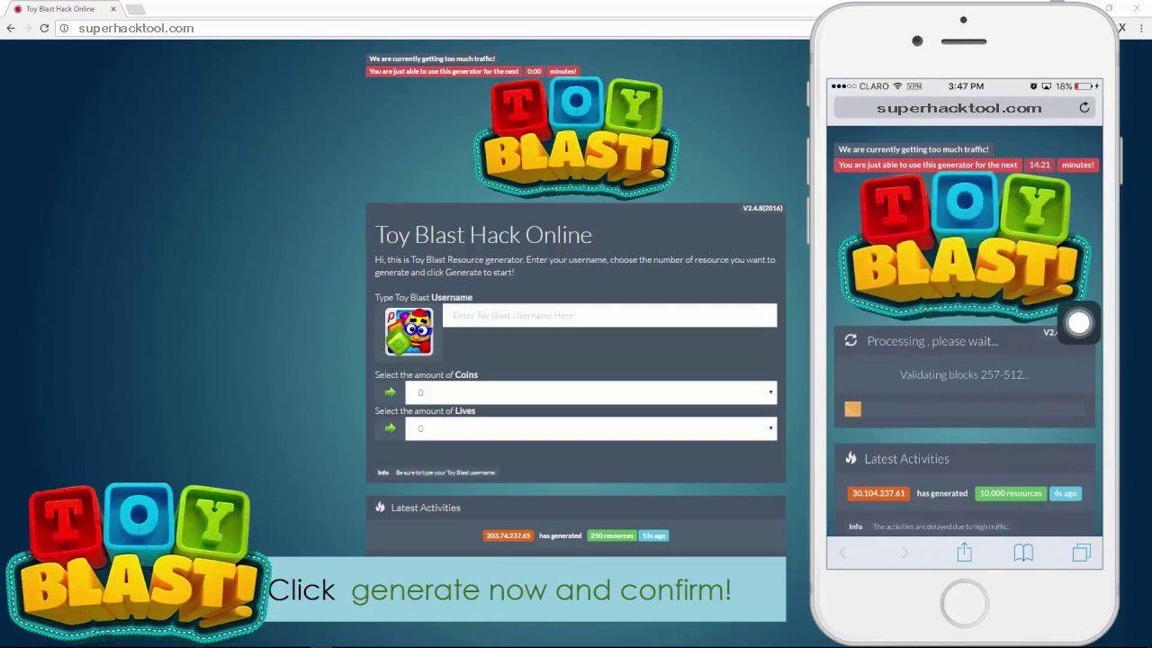 New Update Toy Blast Hack No Survey No Password Toy Blast Hack