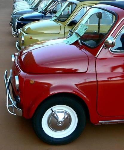 Mooi Rijtje 500 Tjes Fiat 500