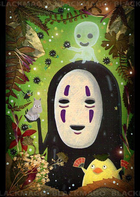 #NoFace portrait #SpiritedAway #Ghibli