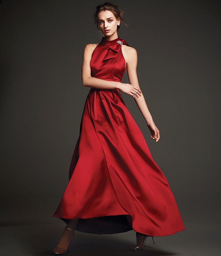 Eliza J Bow Neck Ball Gown | Ball gowns, Gowns and Dillards