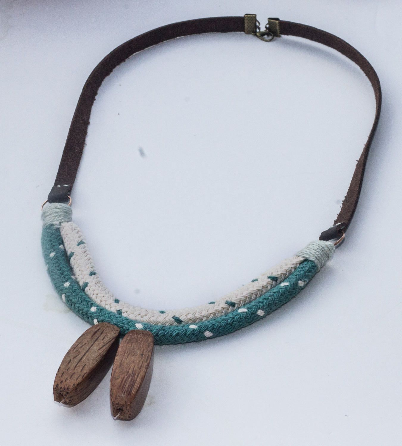 yoga for pendant leather jewelry wood necklaces women cotton india pin rustic native necklace