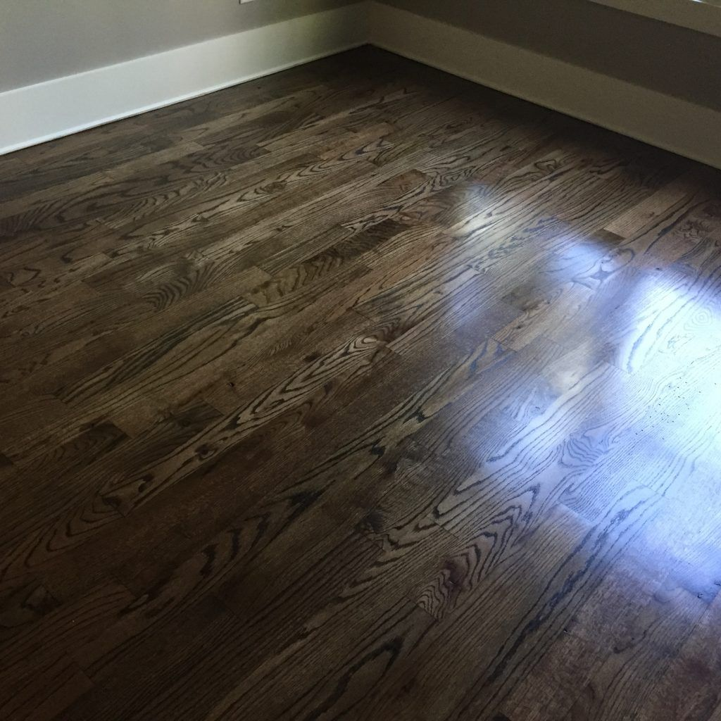 Espresso Stained Birch Hardwood Floors