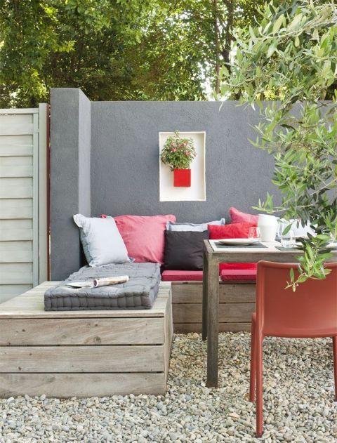 Private Outdoor Corner Garten Garten Terrasse Garten Lounge