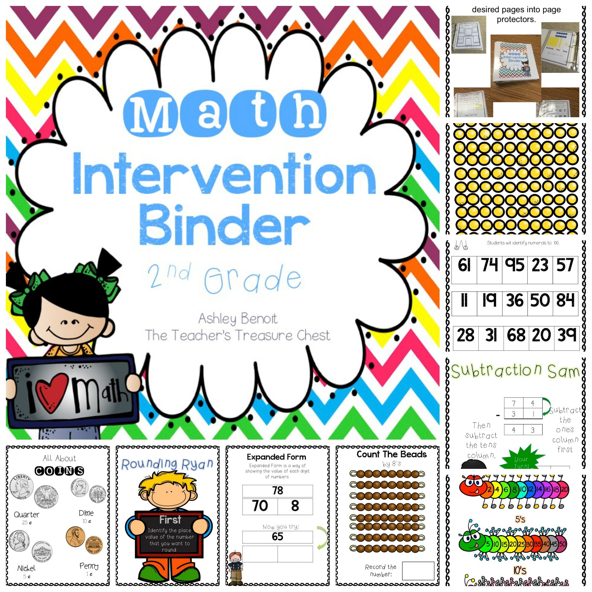 Math Intervention Binder-2nd (With Images)