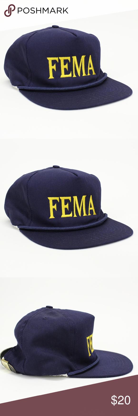 Vintage Fema Federal Emergency Hat Vintage Accessories Hats Vintage Vintage Men