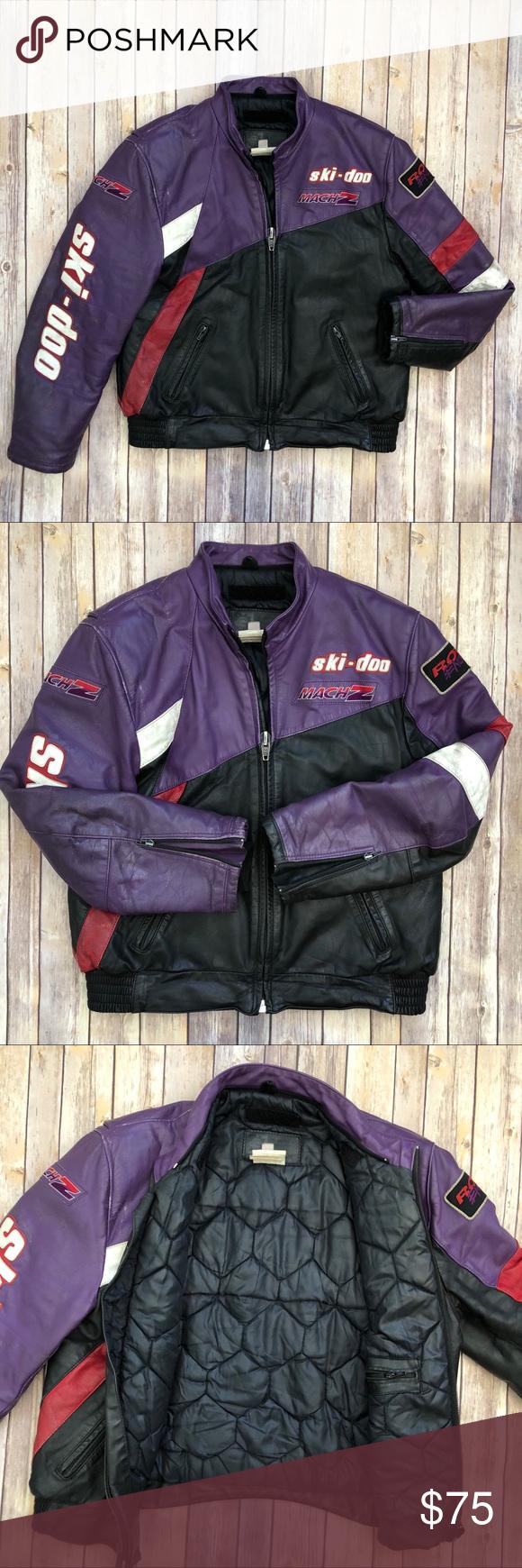 VINTAGE SKIDOO MACH Z Snowmobiling Jacket M L Vintage