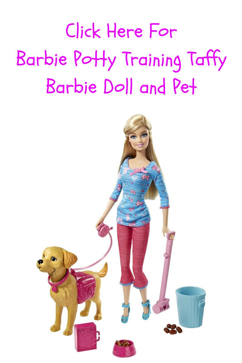 Barbie Potty Training Taffy Barbie Doll and Pet Barbie
