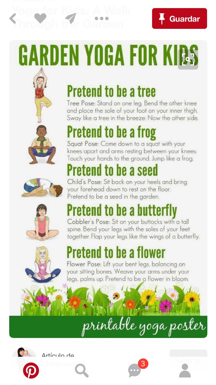 Garden Yoga For Kids: Free Printable Poster: Take A Walk Through Nature  With This Garden Themed Yoga Routine For Kids. Suitable For Use Toddlers To  School ...