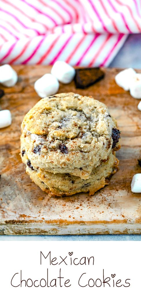 Mexican Hot Chocolate Cookies #chocolatemarshmallowcookies