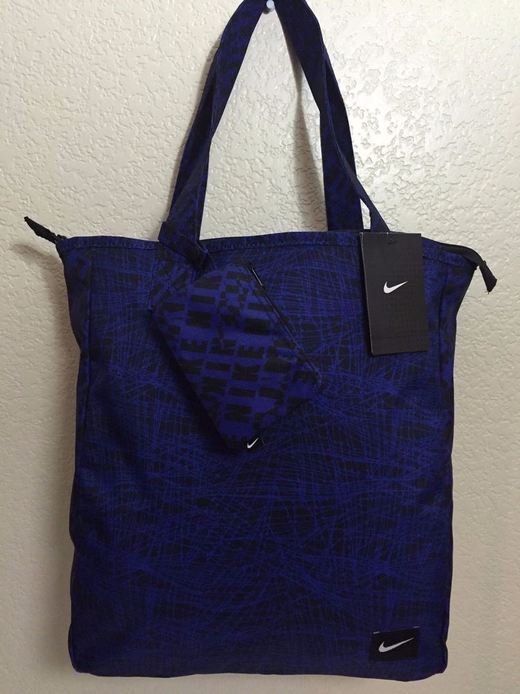 2b59e54319b1 NIKE Sportswear Rowena Women Tote Bag Deep night Blue  Black with Small Bag.   Nike