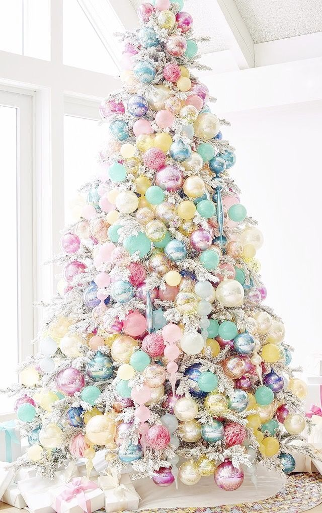 pastel christmas tree vintage pastel christmas pinterest christmas christmas decorations and christmas tree - Pastel Christmas Decorations