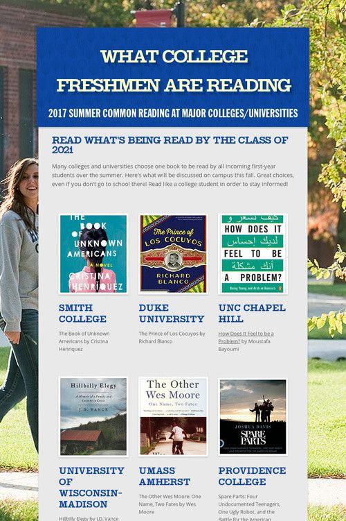 What College Freshmen are Reading