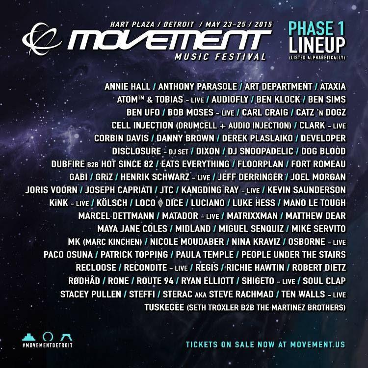 Movement 2015 Lineup Demf Lineup 2015 Dj Frequencies