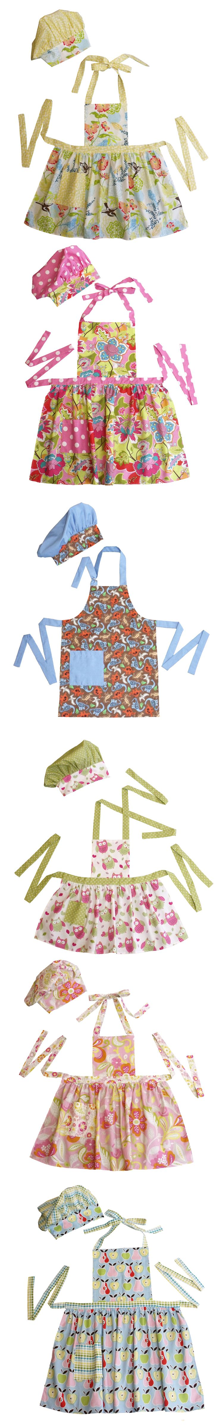 Super-cute hand-made children\'s aprons for dress up. | Sewing ...