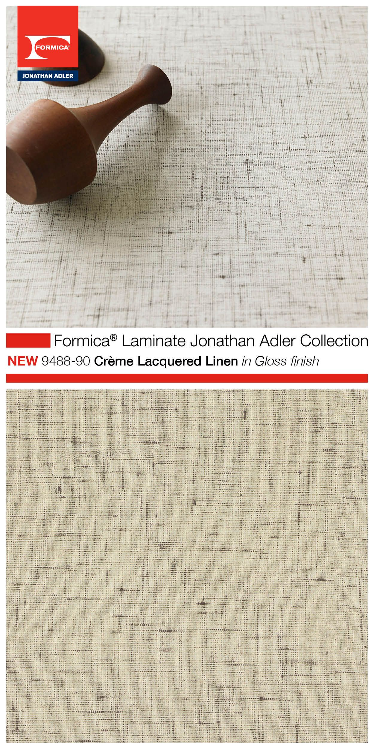 Part Of The Highly Anticipated Formica Laminate Jonathan Adler Collection 9488 90 Creme Lacquer Formica Laminate Kitchen Countertops Laminate Laminate Kitchen