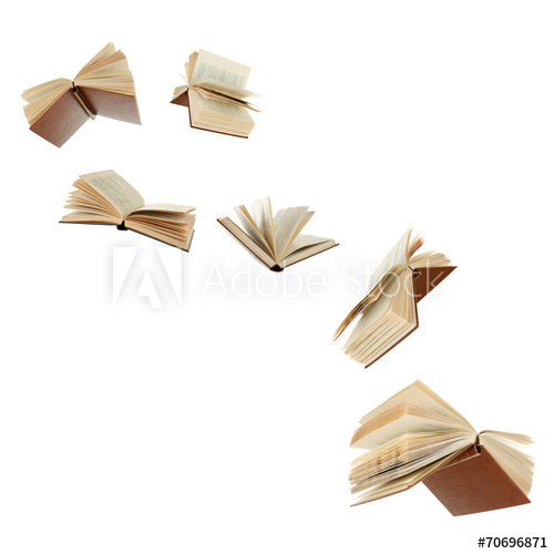 Flying Books Isolated On White Buy This Stock Photo And Explore Similar Images At Adobe Stock Adobe Stock Book Wall Art Royalty Free Images Stock Photos