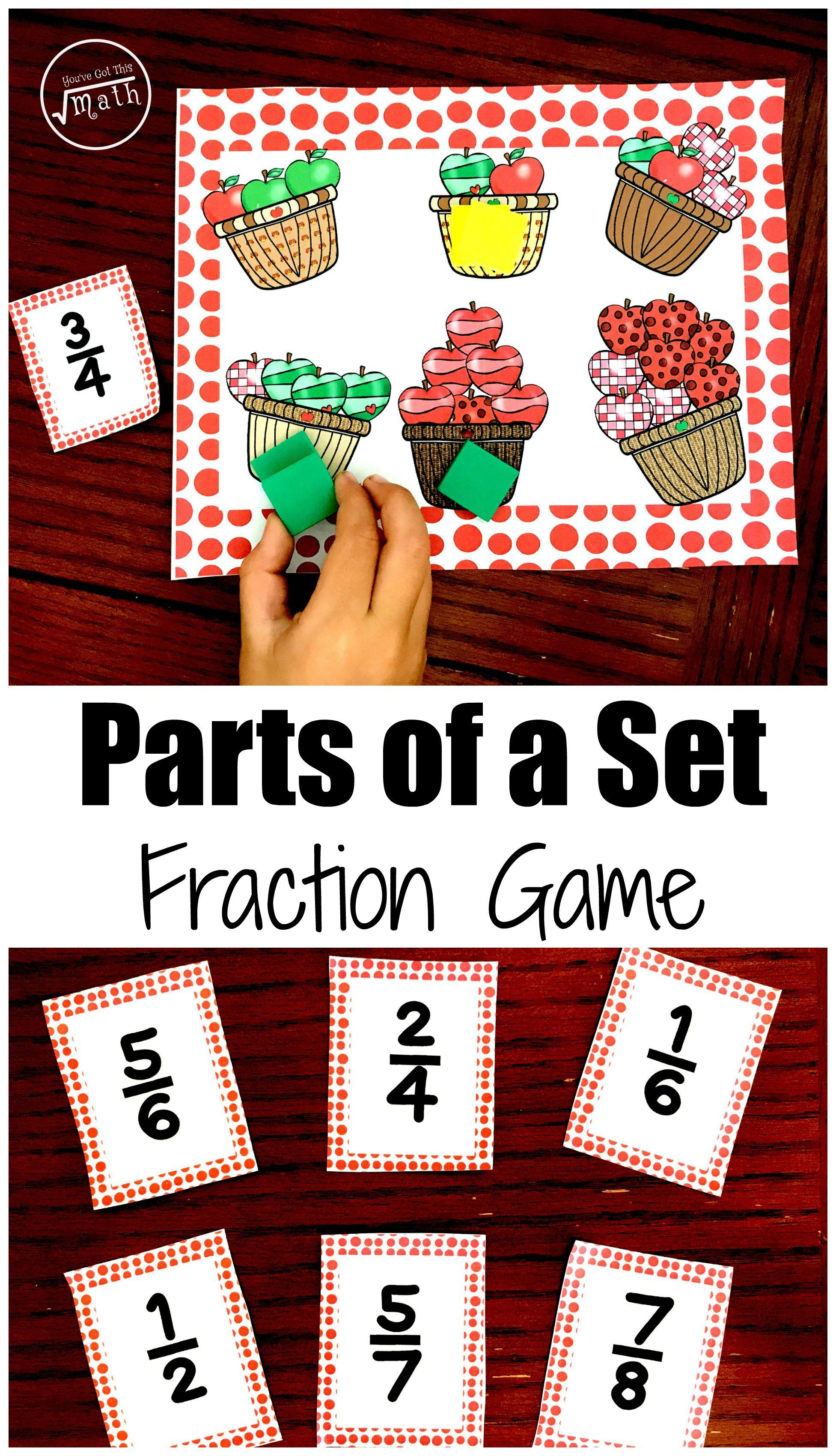 How to Teach Fractions Of A Set with A Free Apple Bump
