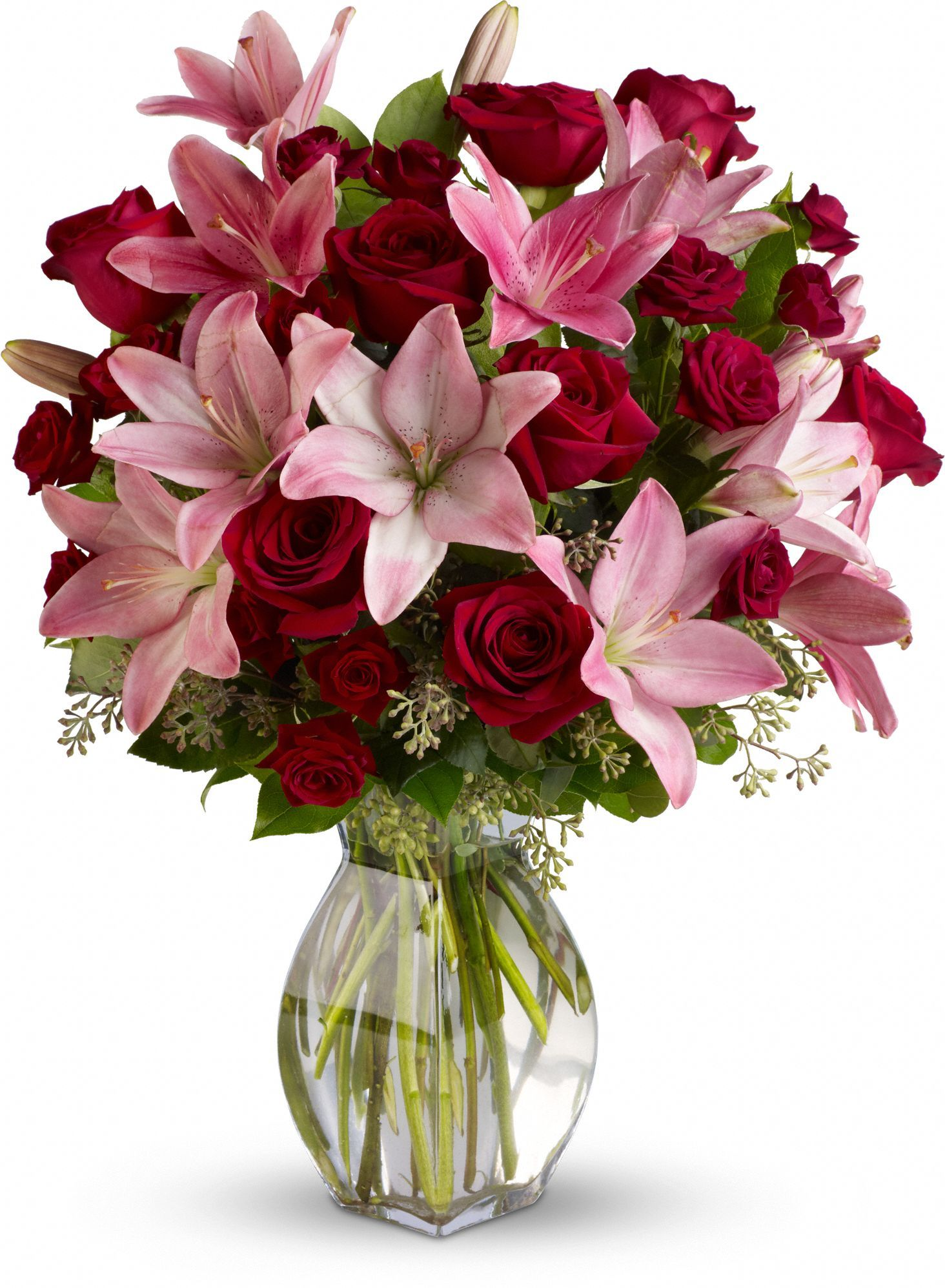 Lavish love bouquet with long stemmed red roses save 25