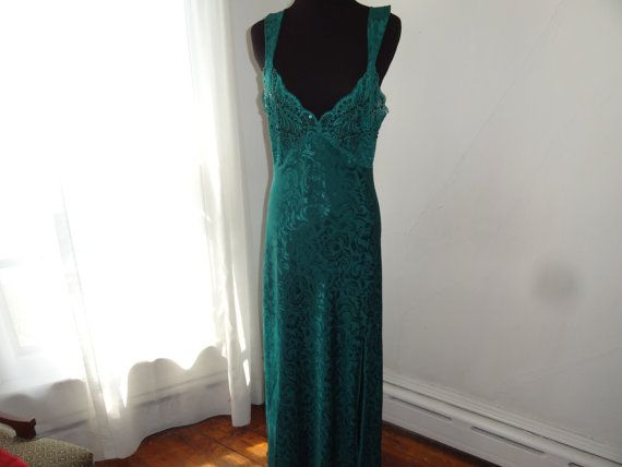Hey, I found this really awesome Etsy listing at https://www.etsy.com/listing/228881276/victorias-secret-vintage-green-1980s