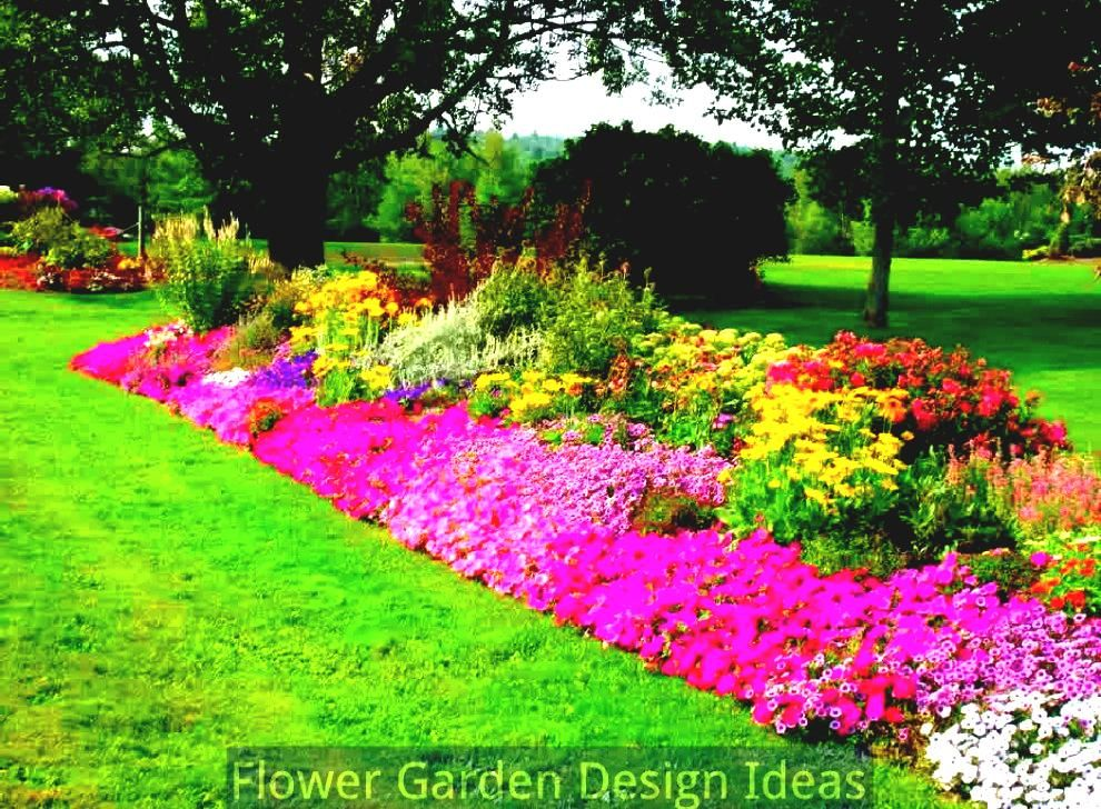 Flower bed garden layouts flower bed designs for full for Flower garden landscape