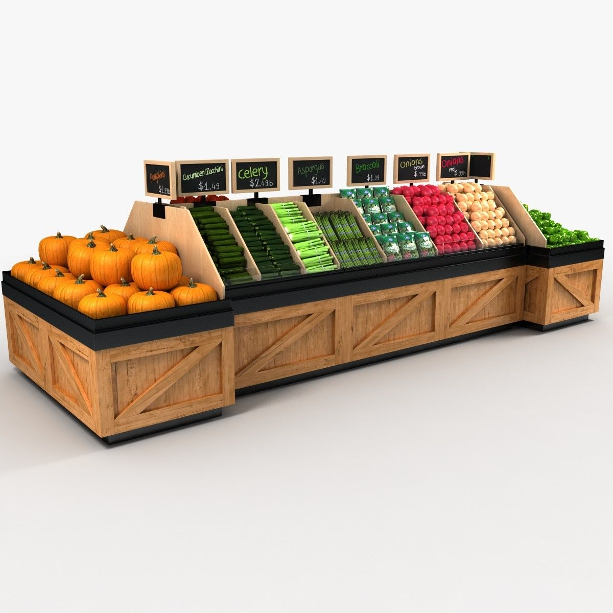 max vegetable produce Vegetable shop, Produce displays