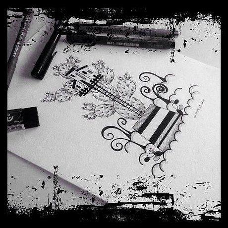 """""""La casa del cactus"""" Ilustración impresa sobre papel mate Clairefontaine, ligeramente texturizado, de 180 gr. Numeradas y firmadas. Tamaño 15 x 21 cm Pedidos/ To order: raquel@maggicosvillage.com"""