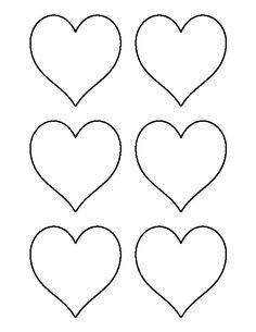 3 Inch Heart Pattern Use The Printable Outline For Crafts Creating Stencils Sbooking