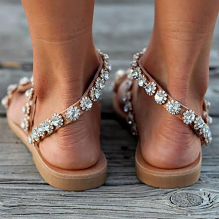 Photo of (Best seller) Boho Crystal Sandals
