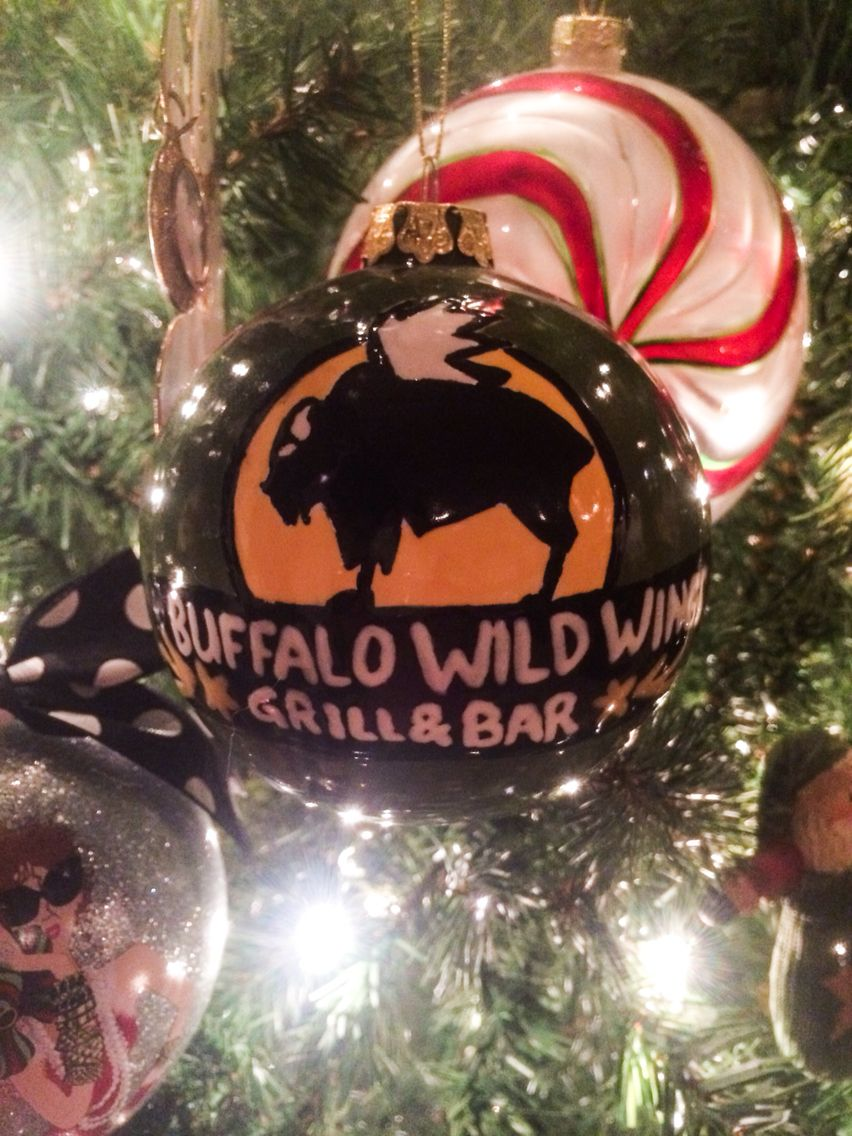Buffalo Wild Wings Christmas ornament I made for my dad! Merry ...