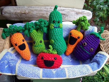 Amigurumi Vegetables : Crochet accessories u how to amigurumi