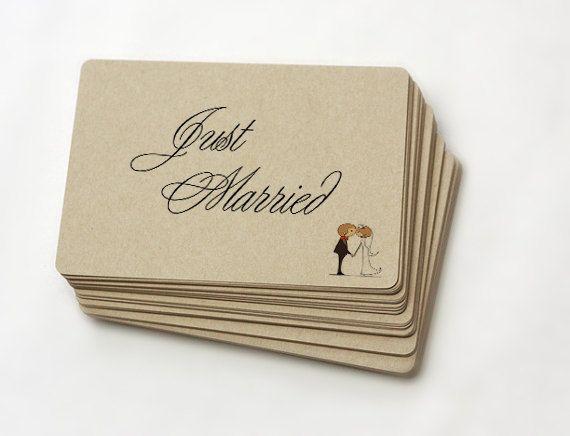 Simple Vintage Postcard Wedding Thank You by PAPERBRIDEVintage, €15.00