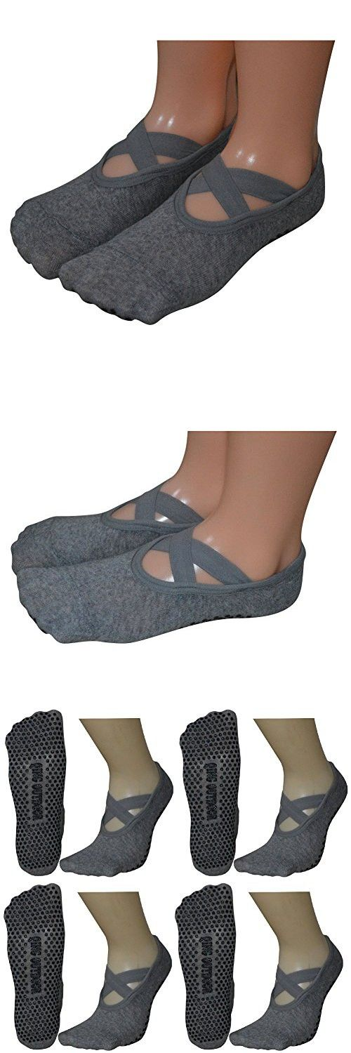 2aed56f96 Women s Ballet Style No Show Low Cut Hospital Slipper Socks Great for Barre  Pilates Yoga with Non Skid Grips  pilatessocks