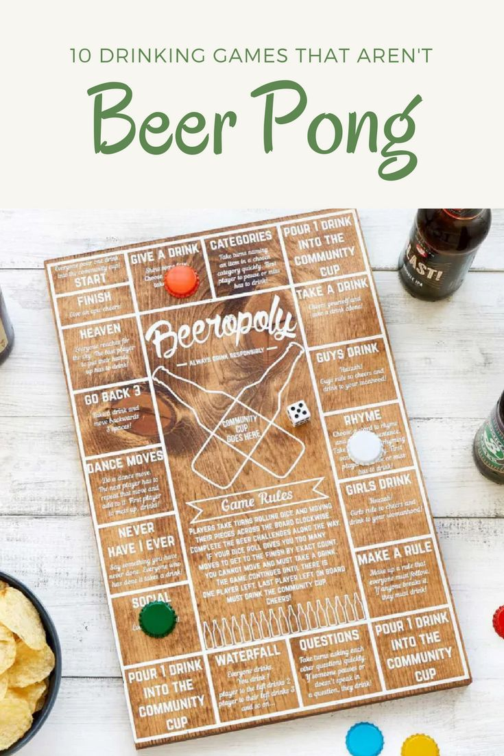 10 Drinking Games That Aren't Beer Pong Drinking games
