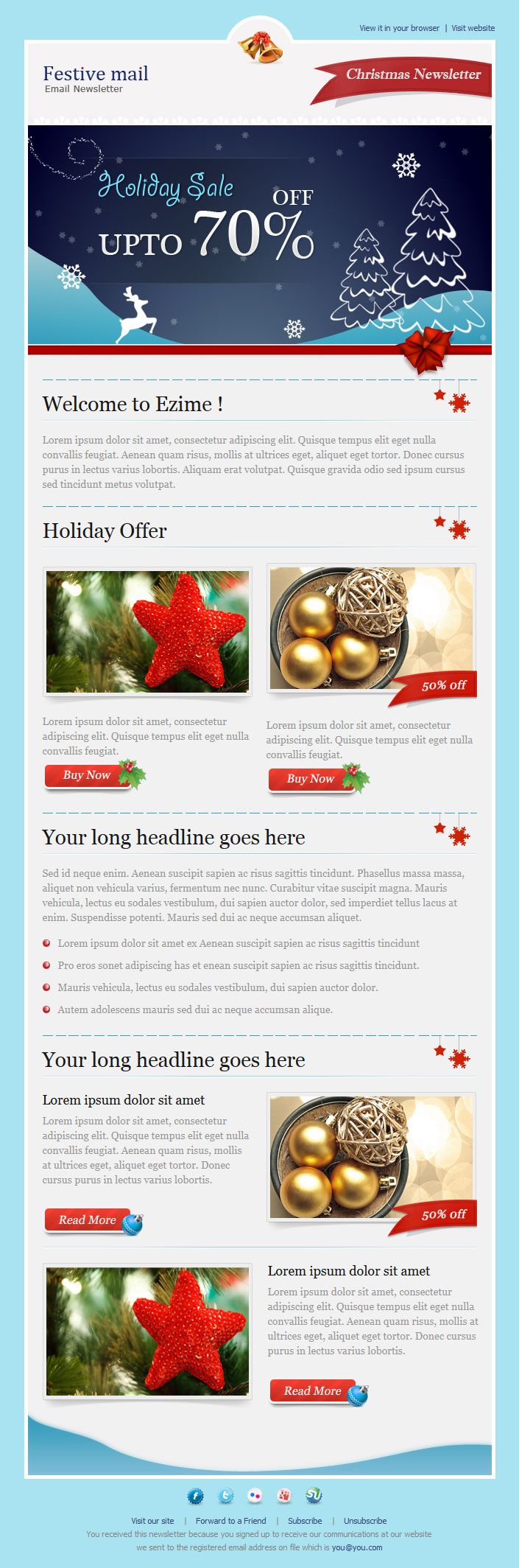 email newsletter Content Heavy Digital Design – Email Newsletter