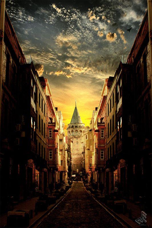 Galata tower in Istanbul #turkey #istanbul #galata
