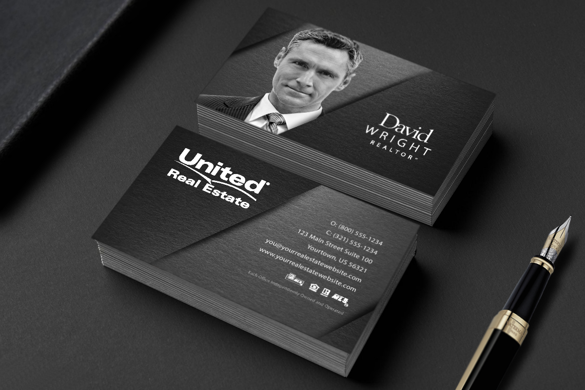 high end real estate business cards  oxynux
