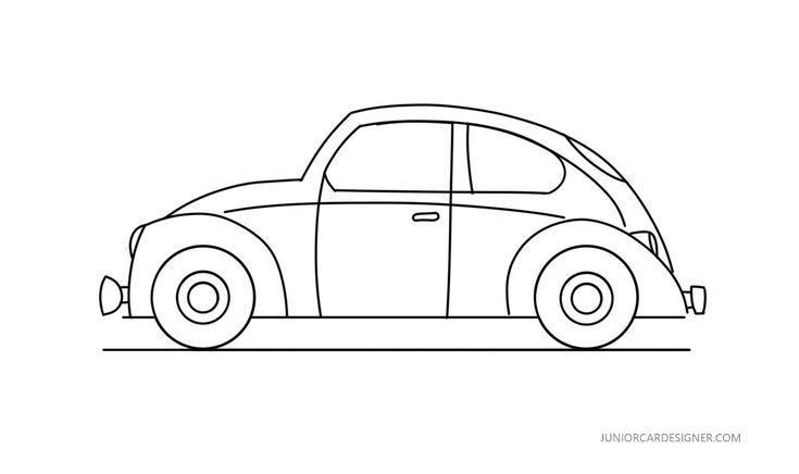 Easy Car To Draw Vw Beetle Zeichnen Leicht Auto Zeichnen Zeichnen