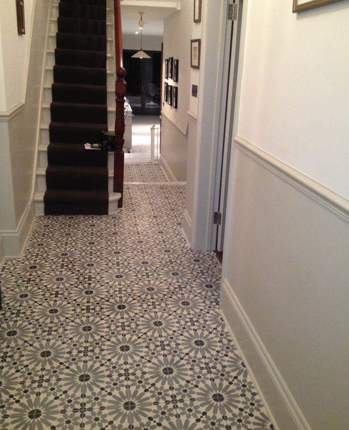 1930s tiled hallway