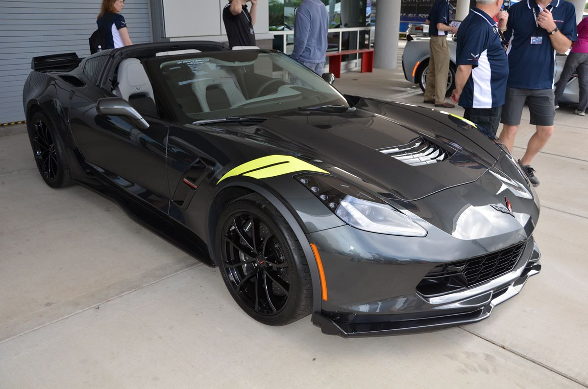 2017 Corvette Grand Sport Heritage Package Watkins Glen Gray