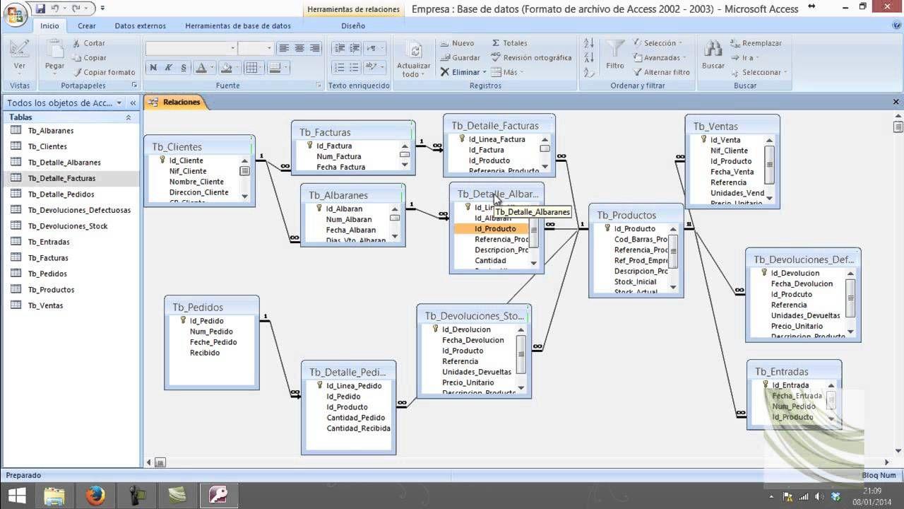 1 Creacion De La Base De Datos En Access Informatica Y Computacion Libros De Informatica Microsoft Excel