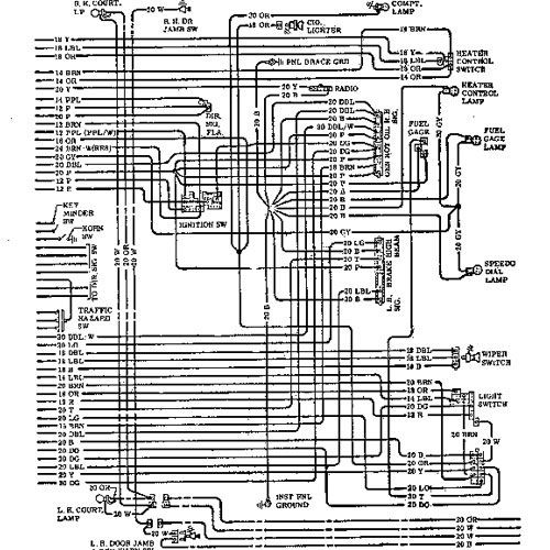 1969 Chevrolet Wiring Diagram With Images Chevelle 1971