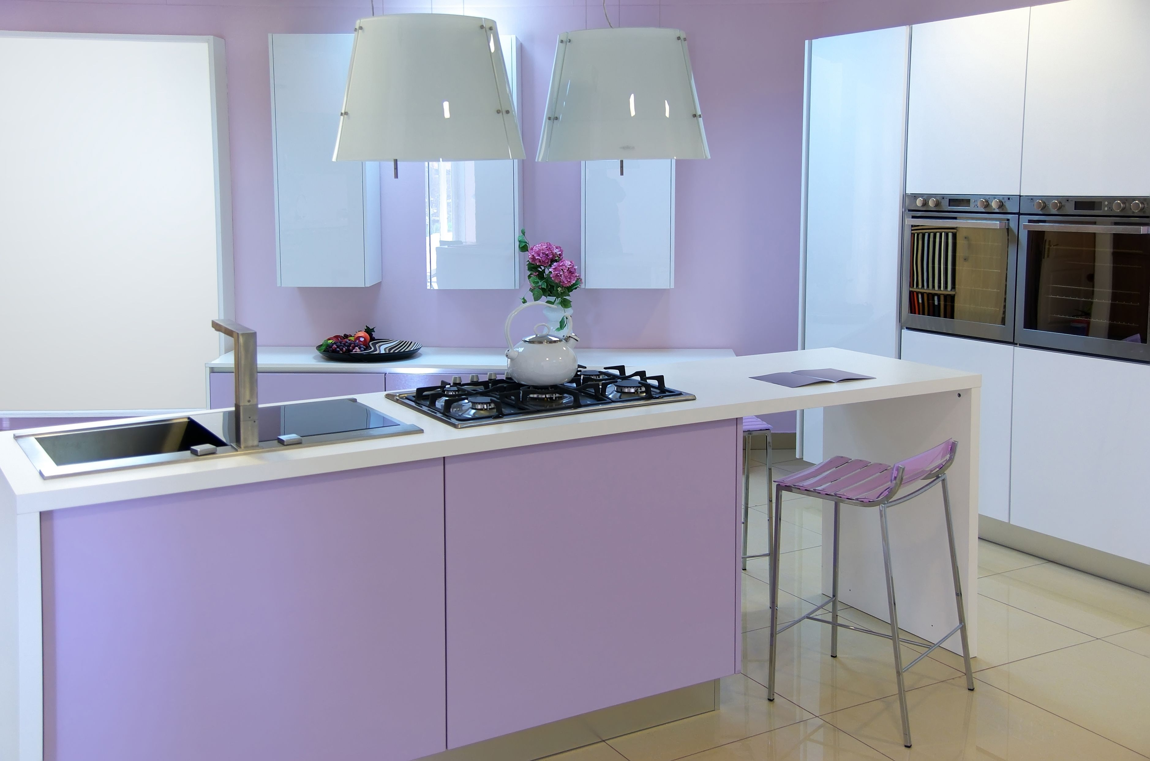 Küche interieur farbschemata  unglaubliche bilder von lila küchen bild inspirationen