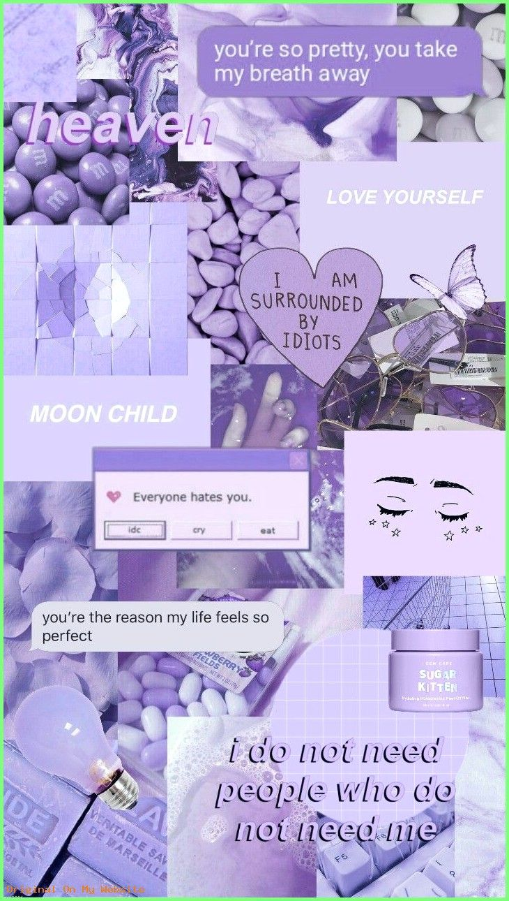 Iphone Wallpaper Aesthetic Purple Aesthetic Collage Wallpapers