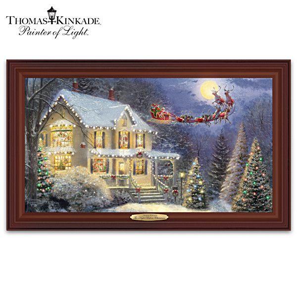 Thomas Kinkade The Night Before Christmas Lighted Wall Decor Holiday Wall Decor Holiday Wall Art Christmas Wall Decor